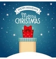 card happy holidays and merry christmas with two vector image