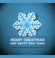 Christmas snowflake applique vector image