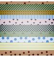 seamless textile stripes vector image