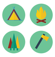 Set of camping iconsPrint vector image