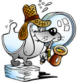 a Paper Dog Detective Mascot vector image vector image