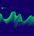 abstract aurora green light wave on blue vector image vector image