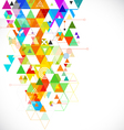 Abstract geometrical colorful template vector image vector image