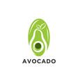 avocado fruit logo template health food logotype vector image vector image