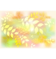 Background from leaves and rowan Autumn leaf fall vector image vector image