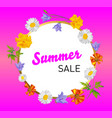 background with realistic colors for summer vector image