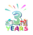balloons on the third anniversary vector image vector image