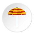 Beach umbrella icon flat style vector image vector image