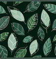 beautiful seamless doodle pattern with vintage vector image vector image