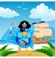 Bird pirate ashore tropical island vector image vector image