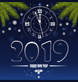 blue banner for christmas and new year 2019 vector image vector image