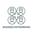 business networking line icon business vector image vector image