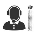 call center operator icon with people bonus vector image vector image