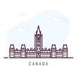 canada line city vector image vector image