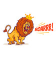 cartoon lion king vector image vector image