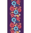 Colorful bouquet flowers vertical seamless pattern vector image vector image