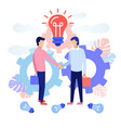 concept of business partnership vector image