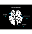 creative ideas brain infographic vector image vector image