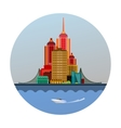 emblem of the city vector image vector image