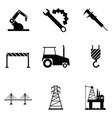 engineering icon set vector image