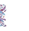 flat cosmetics background vector image vector image