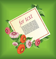 Floral and decorative document template vector image vector image