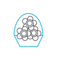 flower business linear icon concept flower vector image vector image