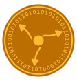 gamma quants digital coin vector image vector image