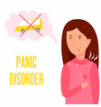 girl having panic attack health problem vector image vector image