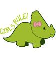 Girls Rule vector image vector image