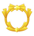 gold game frame award avatar round template