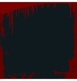 Grungy bloody frame on a black background vector image