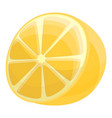 half of lemon icon cartoon style vector image vector image