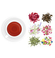herbal tea set cartoon flat vector image vector image