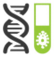 hitech microbiology halftone icon vector image