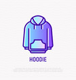 hoodie thin line icon modern vector image
