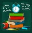 i love school composition vector image vector image