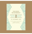 invitation card with blue floral elem vector image vector image