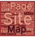 JP html site map text background wordcloud concept vector image vector image