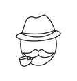 man with mustache icon vector image vector image