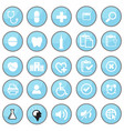 medical icon in blue circle vector image