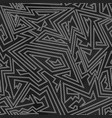 monochrome simple tribal pattern vector image vector image
