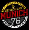 munichgermanystylish graphics design vector image