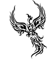 Mythical phoenix bird vector image vector image