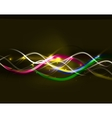Neon glowing lines abstract background vector image