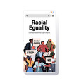 people activists holding stop racism placards vector image vector image