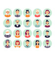 people avatars genealogical family tree elements vector image vector image