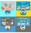 Professions 2x2 Design Concept Set vector image vector image