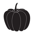pumpkin black icon vector image vector image