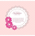 Romantic Flower Vintage Invitation Card Background vector image vector image